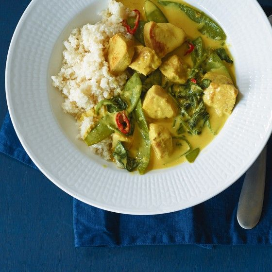 Hähnchencurry mit falschem Reis