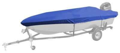 Bass Pro Shops Select Fit Hurricane Boat Covers for Extra Wide Aluminum Fishing Boats - Blue - 15'6'' to 16'5''