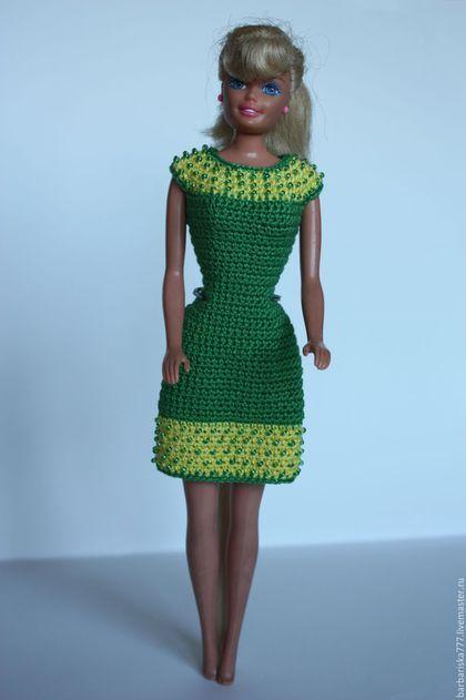 Одежда для кукол ручной работы. платье с бисером. Барбариска. Ярмарка Мастеров. Подарок на новый год, одежда для кукол, пайетки