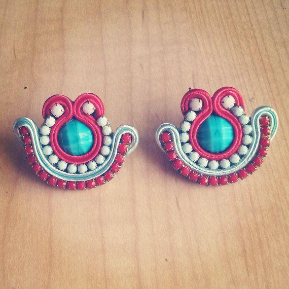 Original Soutache Earrings, Shell Design Custom made by Little Venice Designs / Great Price. Hypoallergenic