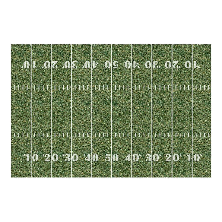 """Football Field Backdrop Banner - OrientalTrading.com Would be great for my """"Tackling Our Multiplication Facts"""" bulletin board"""