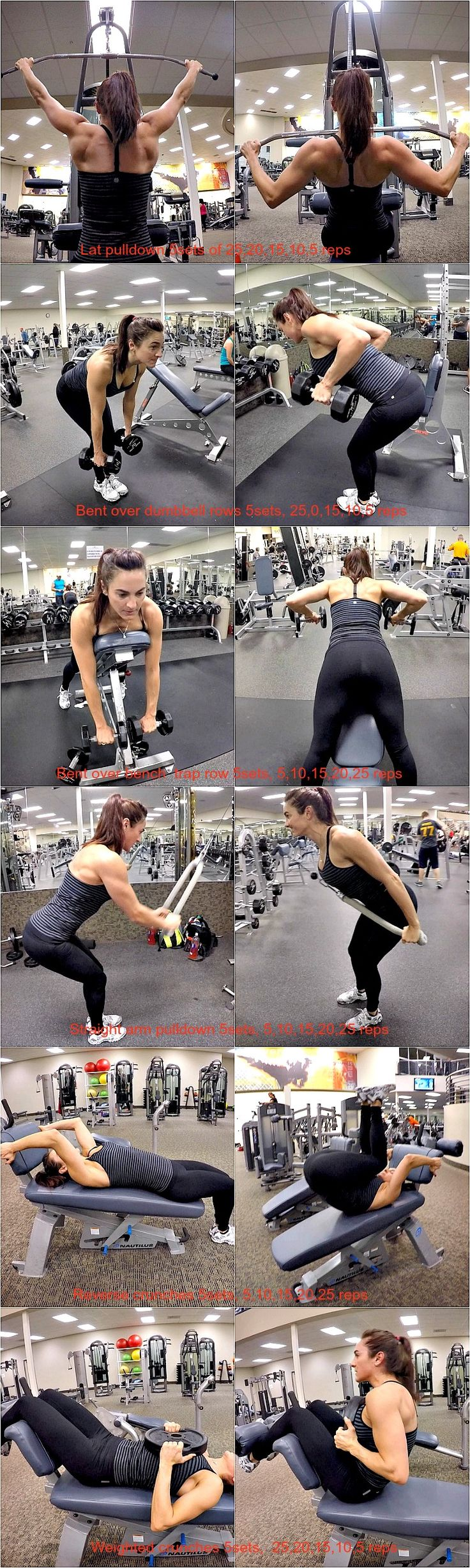 "Back & Abs and we are building those nice ""V"" backs, broad through the…"