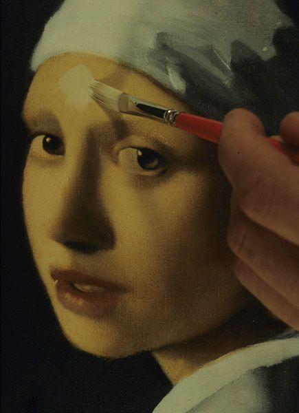 """Vermeer's Artistic Technique: Painting an Oil Copy of """"Girl with a Pearl Earring"""""""