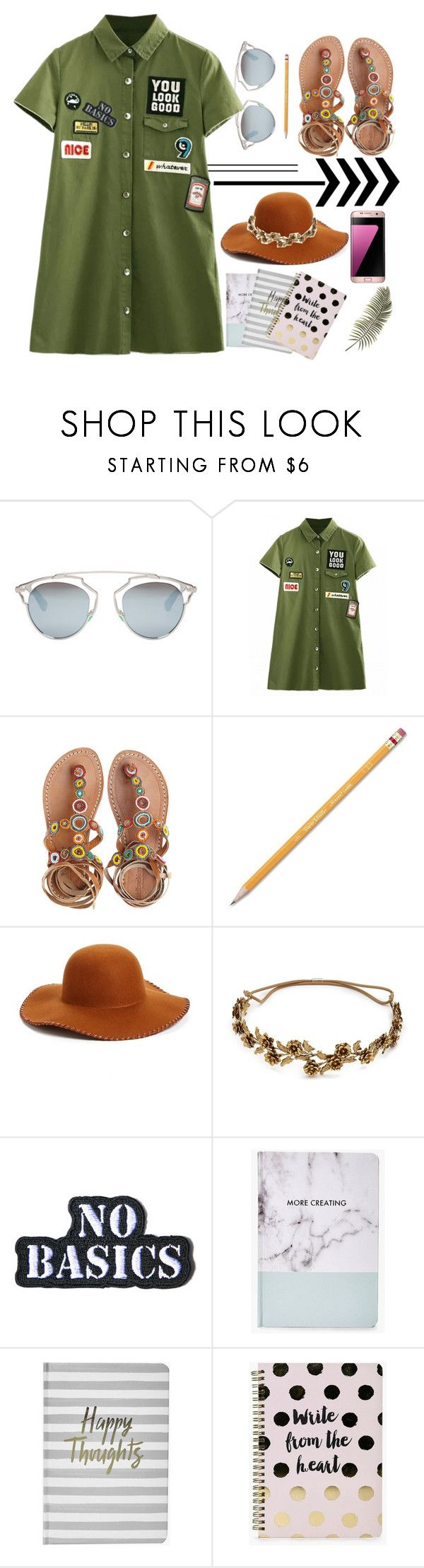 """""""OOTD"""" by dikenn ❤ liked on Polyvore featuring Christian Dior, Laidback London, Paper Mate, Phase 3, Jennifer Behr, Hollywood Mirror, Boohoo and Samsung"""