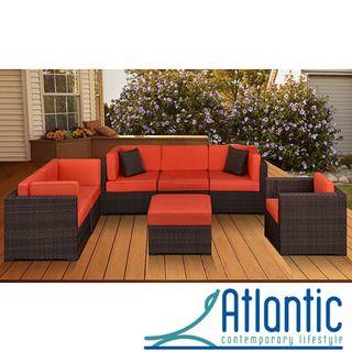 atlantic naples 7 piece patio furniture set by atlantic