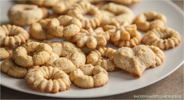 Kekse aus der Gebäckpresse