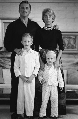 Kirk Douglas, Anne Douglas, Eric Douglas, Peter Douglas
