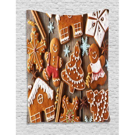 Gingerbread Man Tapestry Tasty Looking Traditional