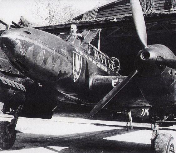 Night Fighter Bf.110C German ace Wilhelm Hergeta ~ BFD ...