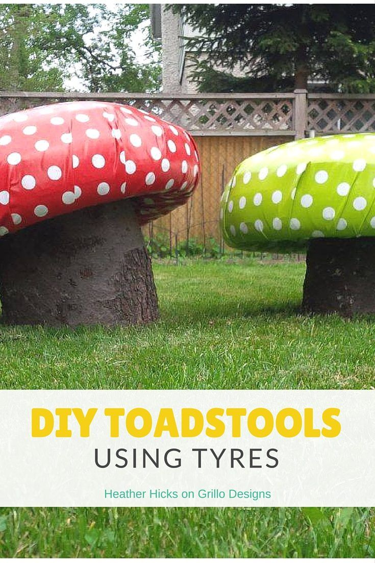 Heather Hicks shares how to create these cute DIY toadstools for the garden using tyres and and tree trunks. These are perfect for little…