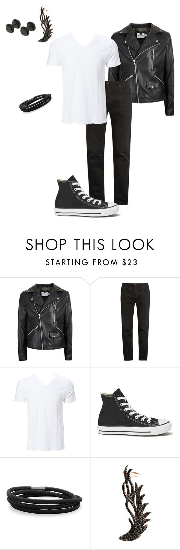 """Bill's Set for Jen's Rockabilly Ice Cream Birthday Party"" by thesassystewart on Polyvore featuring Topman, Neuw denim, Converse, BillyTheTree, Wild Hearts, men's fashion and menswear"