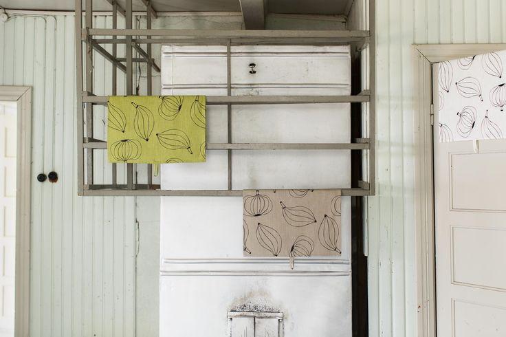 Kuoret (Peels) tea towels. Design by Riikka Kaartilanmäki 2012.