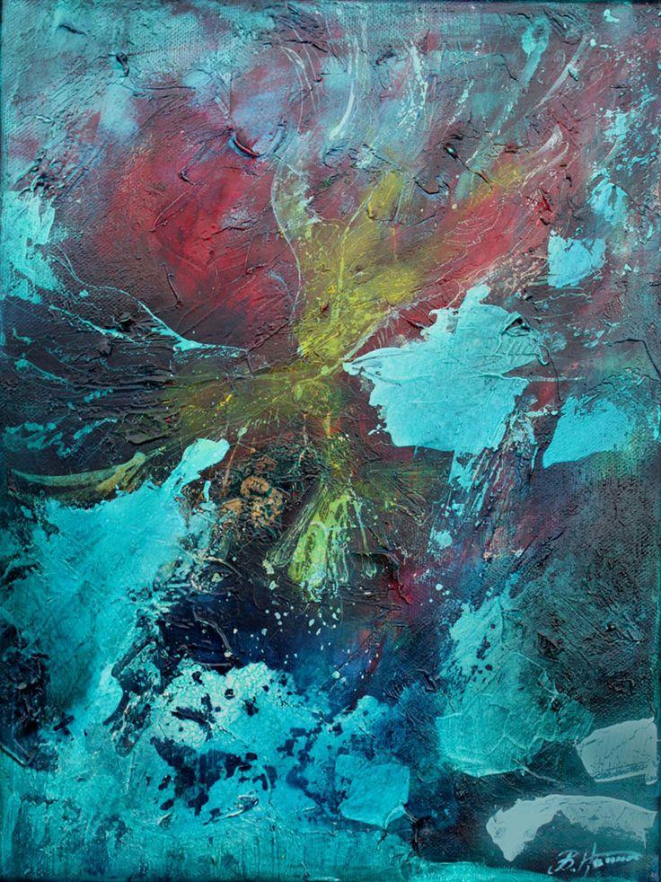 Kruki III, 30x40 cm,2011, oil on canvas, Barbara Hacura