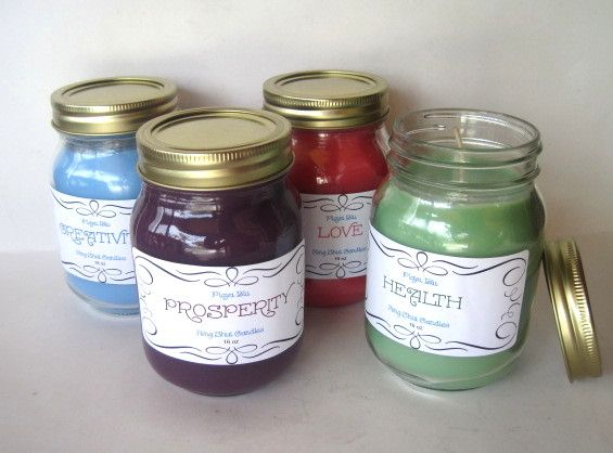 Use this Feng Shui soy candle set to enhance  your home in the areas of Love, Wealth, Health and Creativity.
