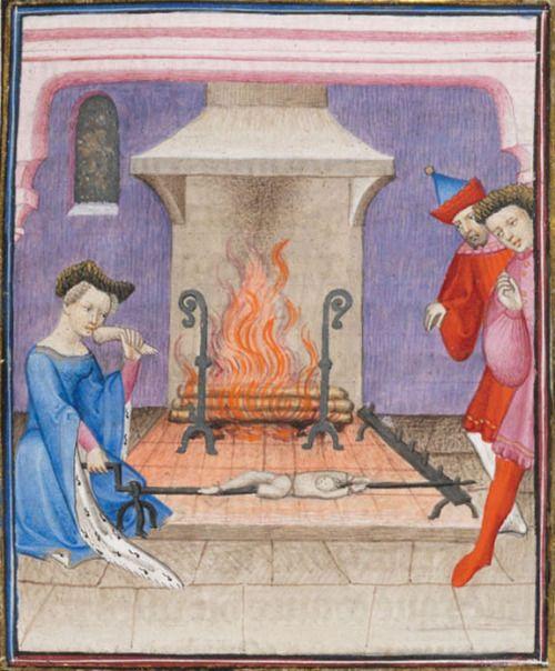 Geneva, Bibliothèque de Genève, Ms. fr. 190/2. Boccaccio. Des cas des nobles hommes et femmes. c.1410.