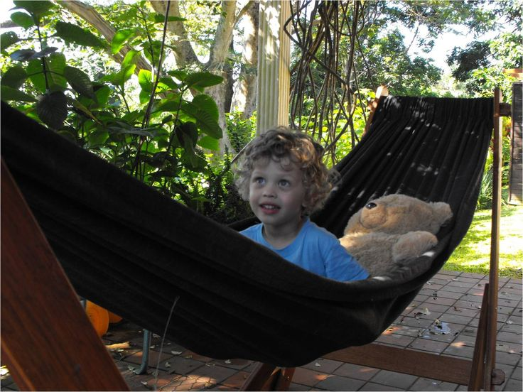 www.dreamtimehammocks. The Eazilay Hammock Stand is perfect for children. Stable on all surfaces.