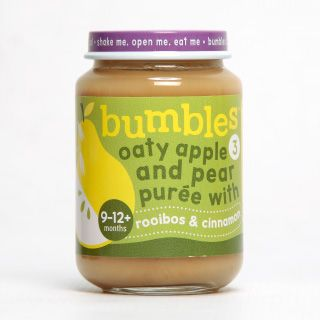 Bumbles™ Baby Food Range Oaty Apple and Pear with Rooibos and Cinnamon on bumbles.co.za #babyfood #oats