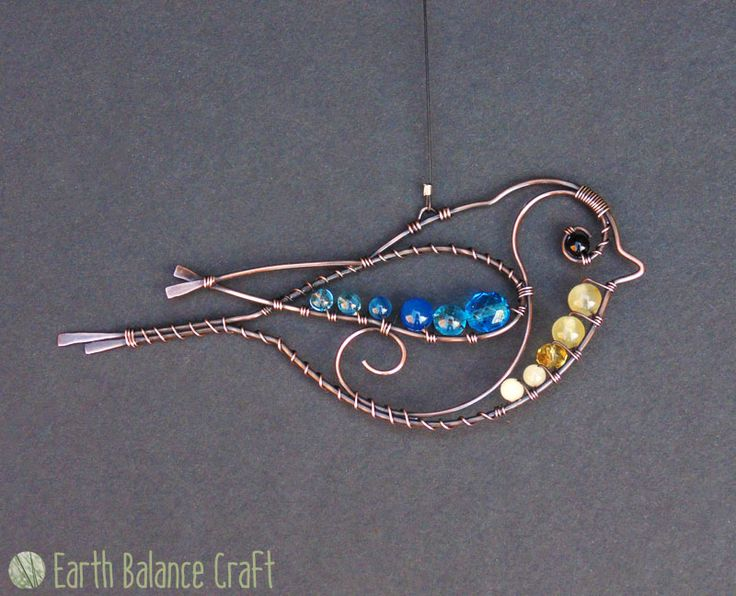 Blue Tit Decoration - Hand Made Garden Birds for the Home