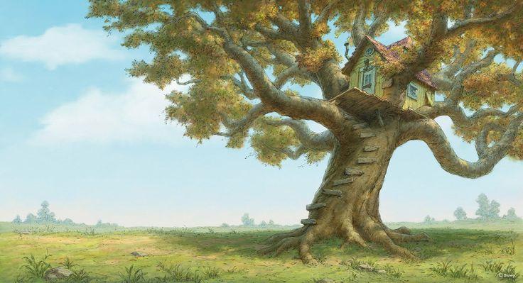 Winnie The Pooh Forest Background: Winnie The Pooh Illustration. #animation #art #disney