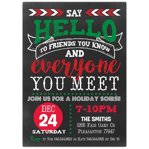 Best 25 Holiday party invitations ideas – Invitations to Christmas Party