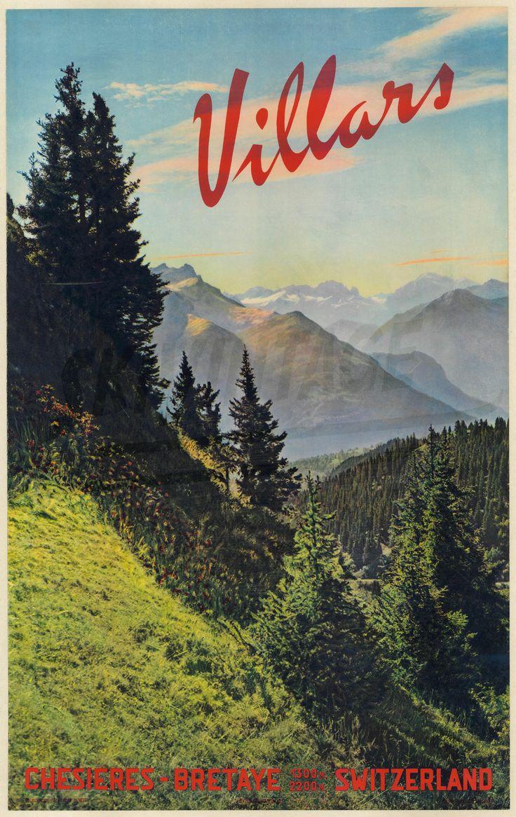 Vaud Villars Chesières-Bretaye Emile Gos (1959)
