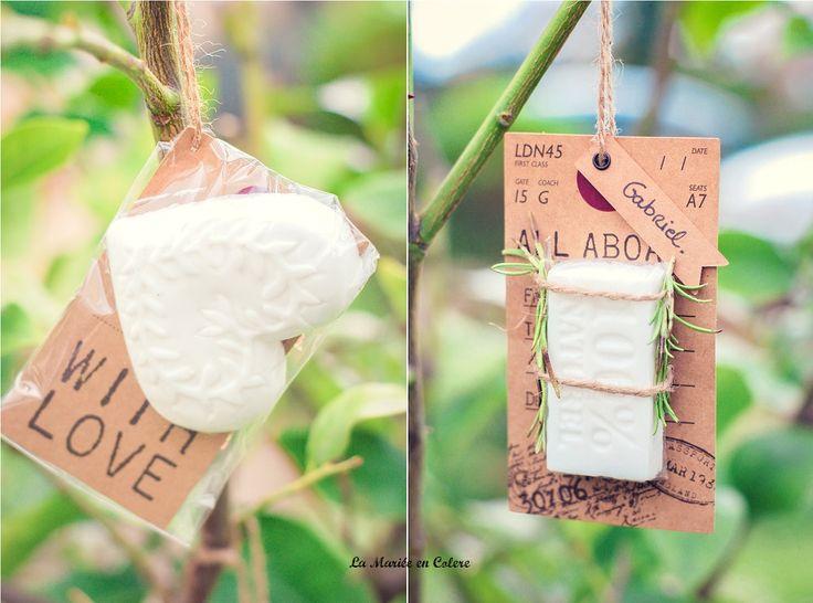 Cadeau original pour vos invités de mariage : les jolis savons