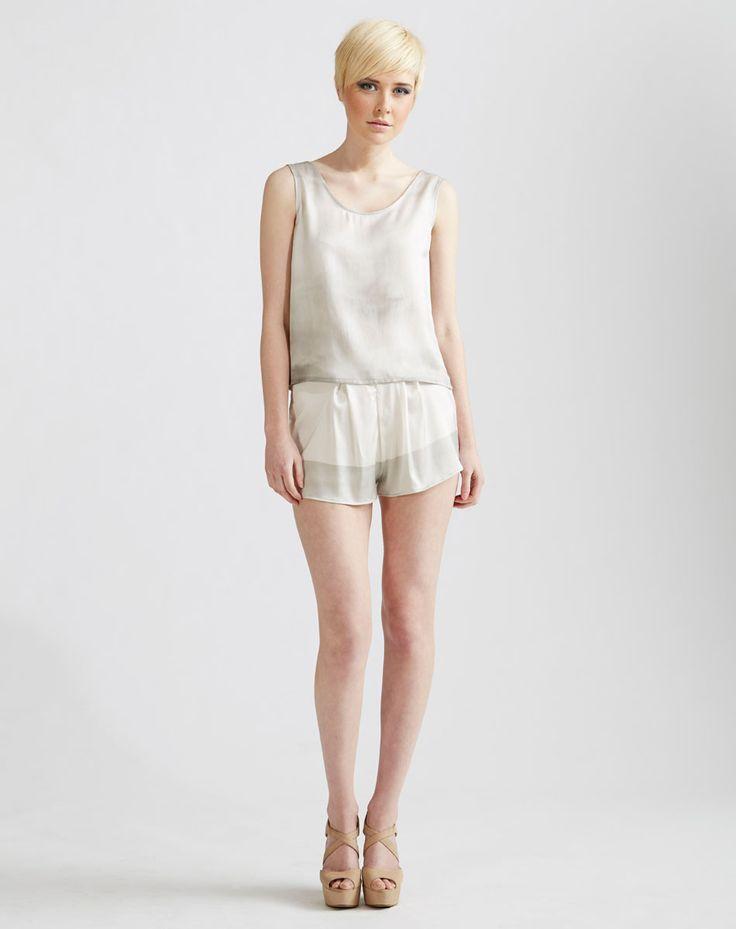 Silk Tank Top, Stretch Silk Shorts available online at www.jenkinsandjane.com.au