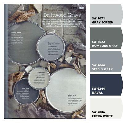 Paleta de colores grises y azules