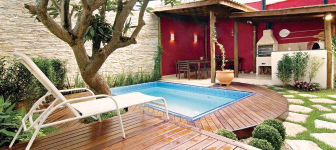 Preços baixos e truques que ampliam espaço fazem da piscina um sonho possível de se realizar