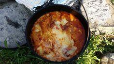 Dutch Oven Recipe – Meaty Lasagna