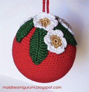 Gomitoli Magici: Decorazioni di Natale : ecco come fare le palle di Natale ad uncinetto