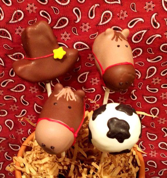 Cowboy / Cowgirl / Western Theme cake pops by JamiesCakePops