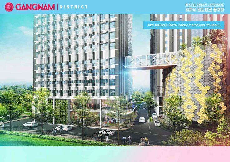 Gangnam District Bekasi apartment dijual dengan pilihan tipe unit : 1. Studio  Ukuran Semi Gross : 22,95 m2 dan Nett : 19.29 m2  2. Bedroom  Ukuran Semi Gross : 45,45 m2 dan Nett : 28.23 m2.