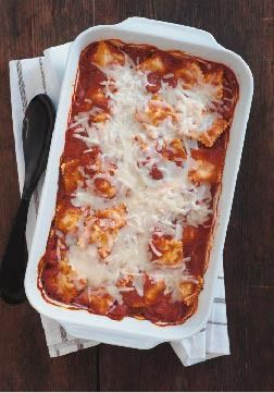 Fuss-Free Ravioli and Cheese Bake – No need to pre-boil the pasta for this scrumptious saucy dish. Pasta perfection is made simple with ravioli that cooks in the oven from start to finish.