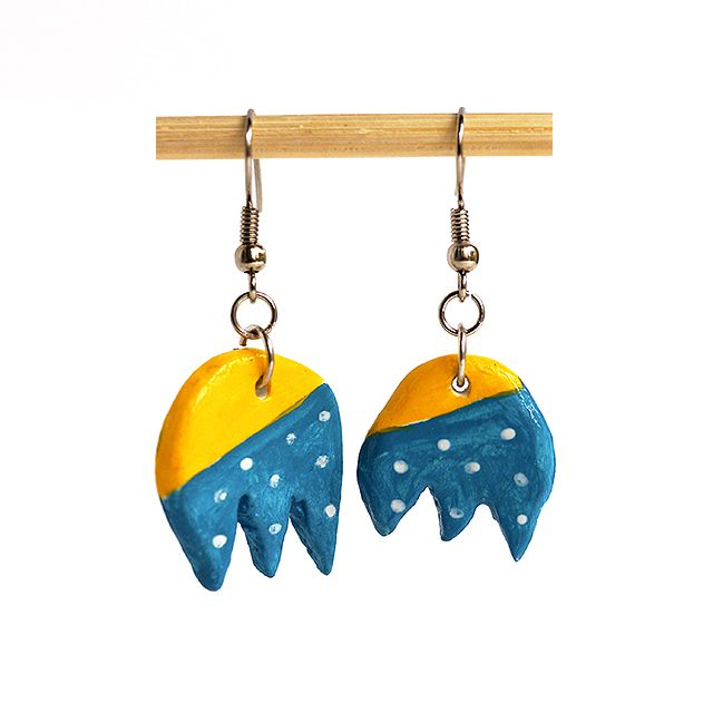 """Clay earrings"" Anna Spathari"