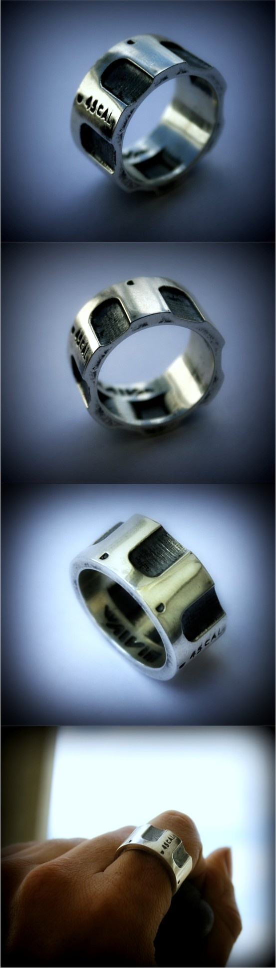 Colt 45 silver ring. I want one!