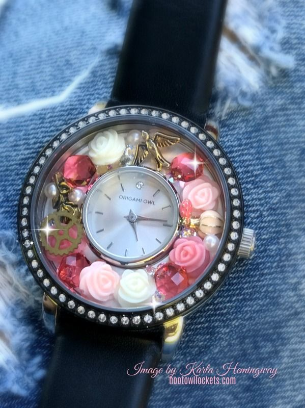 Origami Owl Jewelry - Locket Watch Vintage Coral Rose!