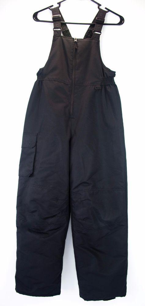 Kids Ski Bib Snow Pants Cherokee Size M 8 10 Black Outdoor Play  #Cherokee…