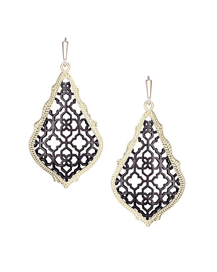 NEW: Addie Earrings in Gunmetal - Kendra Scott Jewelry.