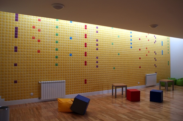 sensation tiles in a public school - óbidos portugal