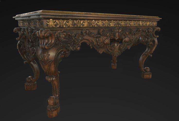 Victorian Table, sarah wang on ArtStation at…