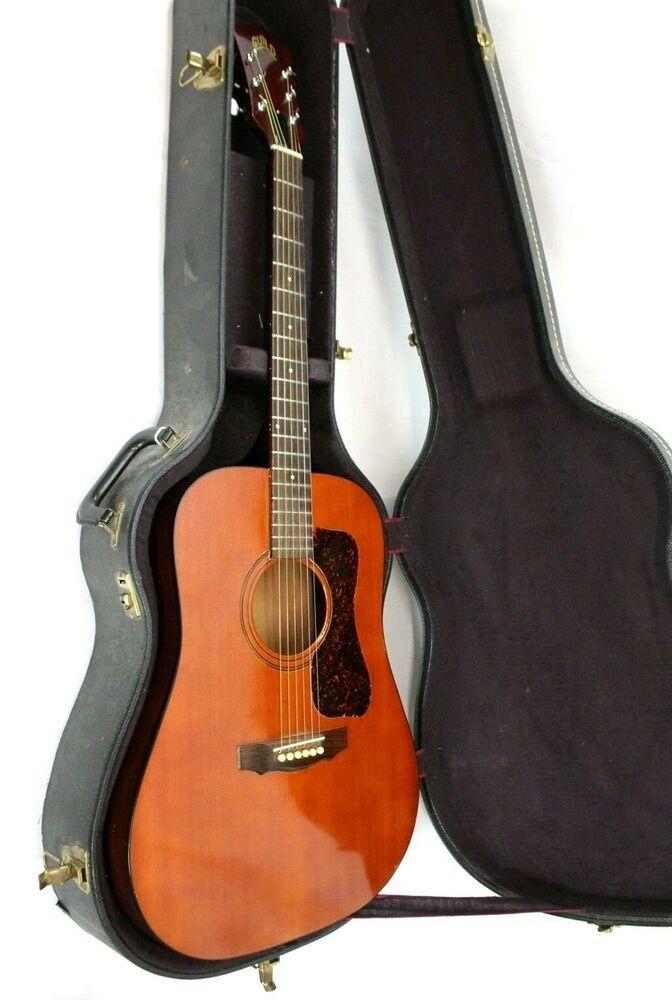 1974 Vintage Guild D25m Acoustic Guitar W Hard Case Usa Guild Guitar Acoustic Guitar Acoustic