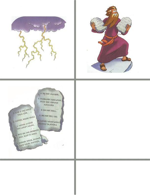 Blank Ten Commandments Tablet Template