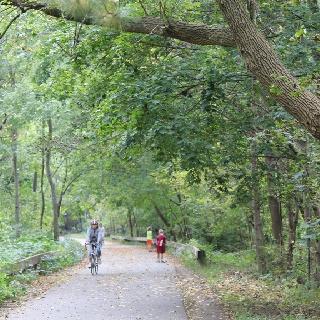 Bike path in Lexington