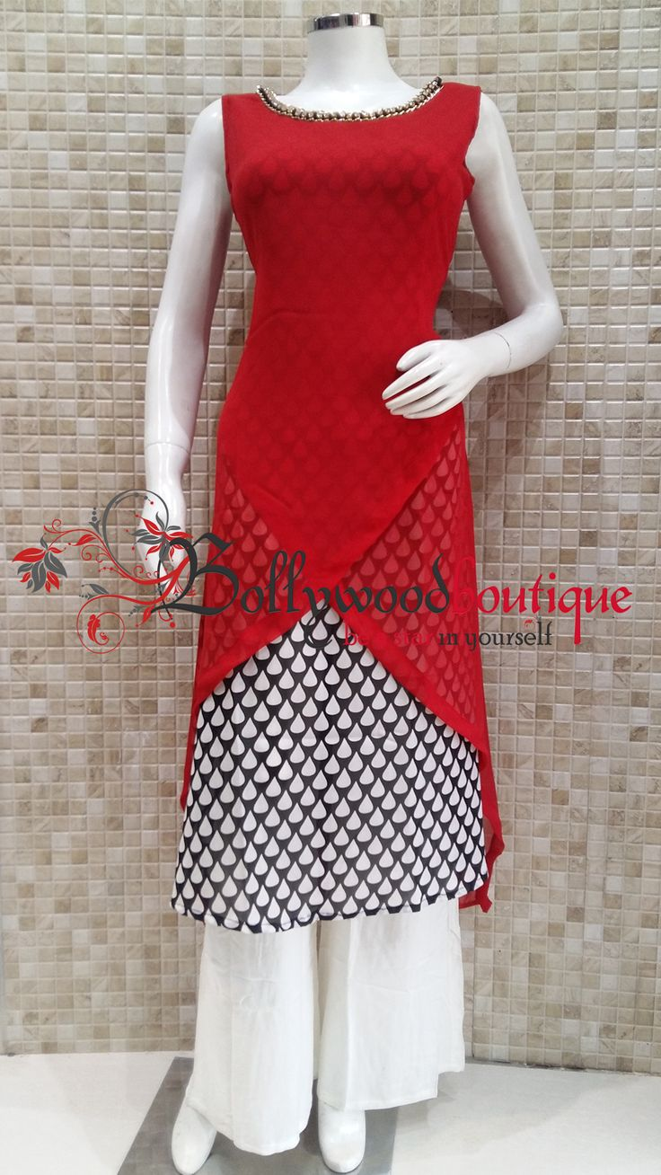 Layered Style Designer Kurti With the Twist Of Cuts & Curves #Kurtis #Layered_Style #Twist #Cuts_N_Curves #Designer_Wear #BollywoodBoutique #Bollywood_Boutique #Bollywood_Boutique_Hoshiarpur