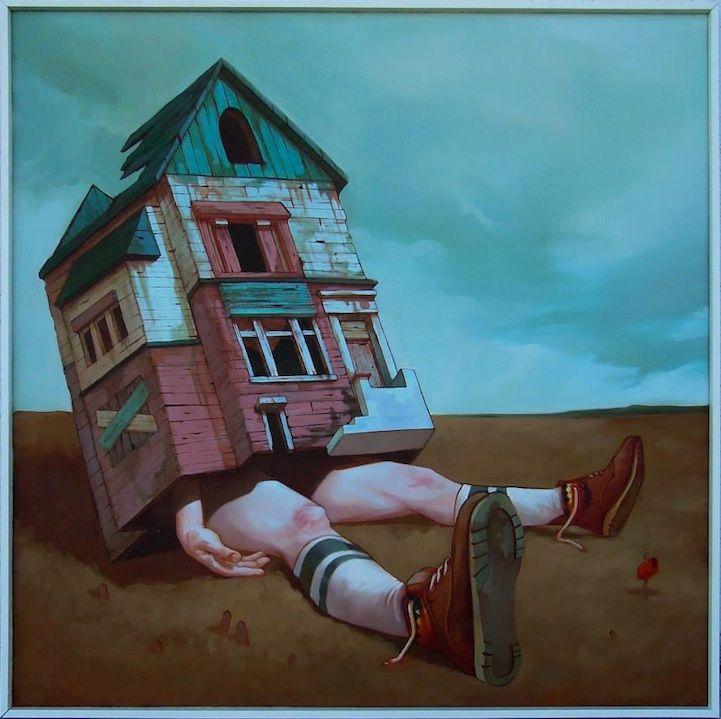 Mientras Que Los Artistas Callejeros Polacos Sainer Y Bezt Que Constituyen El Grupo Etam Cru Son Conocidos Por Pintura Surrealista Arte Produccion Artistica