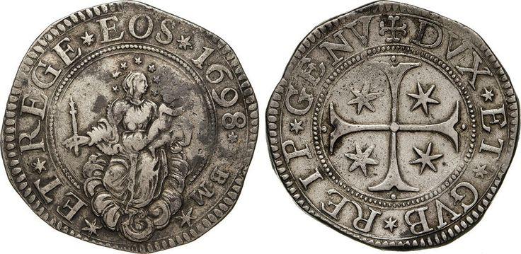NumisBids: Numismatica Varesi s.a.s. Auction 65, Lot 381 : GENOVA - DOGI BIENNALI, III fase (1637-1797) Scudo 1698, sigle IBM....
