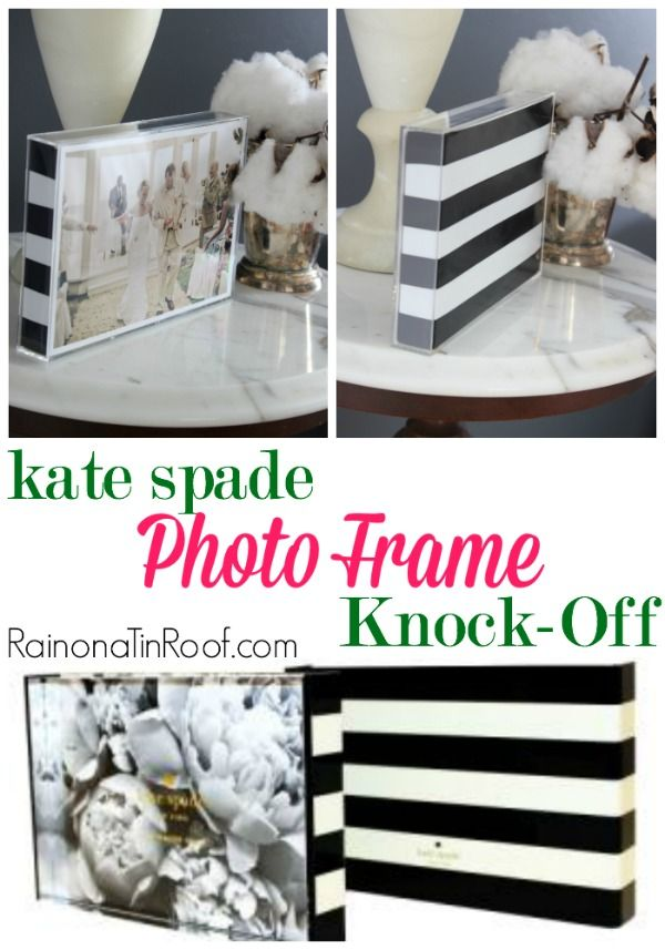 The real Kate Spade photo frame is $30. The knock-off photo frame costs less than $5! You pick! Kate Spade Photo Frame Knock-Off
