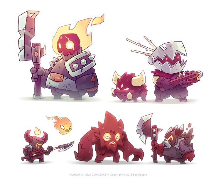 Video game character design collection IISome concept ideas for Almost a Hero video game by Bee Square Games