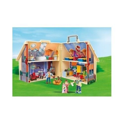 Playmobil Doll House Playing Toys Set Family Figures Children Boy Girl Play Time